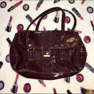 EUC Deep Burgundy Liz Claiborne Handbag Laege